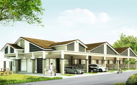 Single Storey Super Link House @ Klebang Restu