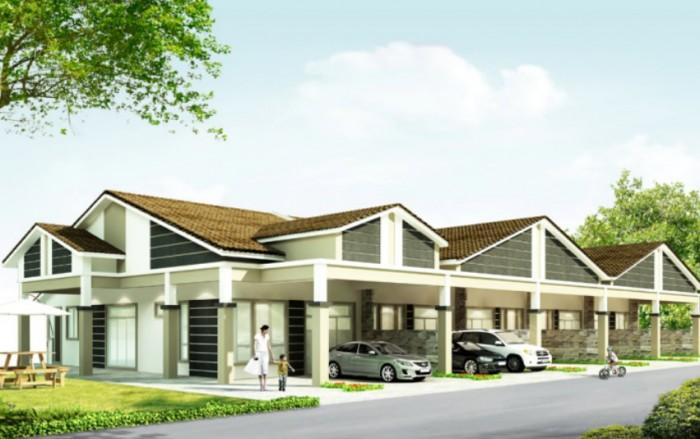 Single Storey Super Link House @ Klebang Restu