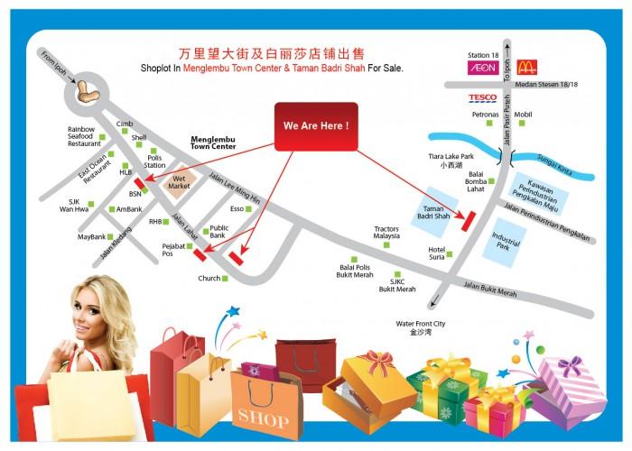 menglembu & taman badri shah shoplot map