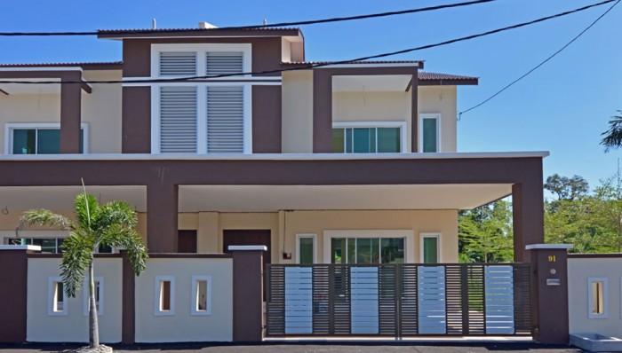 2 units Double Storey Semi Detached houses (Type B) at Taman Tawas Jaya